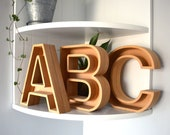 Hollow Wooden Letters UK - MDF Letters - Wall Letters - Freestanding - 18mm - Wedding Letters - Fillable letters