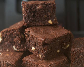 Chocolate Brownies with Peanut Butter Chips