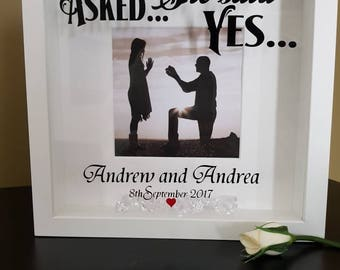 He Asked She Said Yes Customized Proposal Sign Etsy