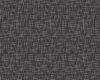 Black Hashtag Cotton Fabric by the Yard - Black and White Quilting Material by Riley Blake Designs