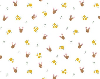 Easter Cotton Fabric by the Yard, Bunny Fabric, Perfect for Quilting, Apparel Crafts, Home Decor