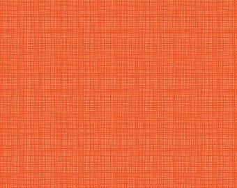 Orange Textured Cotton Fabric by the Yard by Riley Blake, Tone on Tone Orange Plaid Fabric