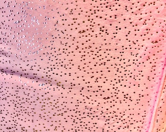 Blush Pink Glitter Solid Minky Fabric by the Yard, Silver Cuddle Minky Faux Fur Fabric