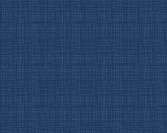 Navy Blue Texture Cotton Quilting Fabric by the Yard, Riley Blake Designs and Sandy Gervais
