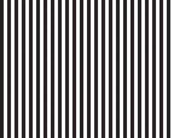 Black and White Stripe Cotton Fabric by the Yard, 1/2'' Stripes by Riley Blake Designs