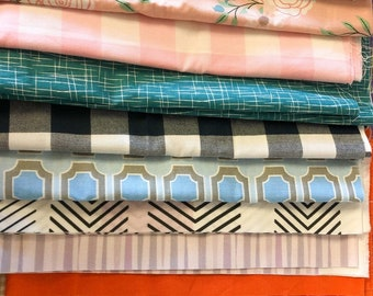 Cotton Scrap Fabric Bundle, Fabric Remnants for Quilting, Face Mask Fabric for Sewing, 2 Yards Total Each Piece Measures between 9-18 inches