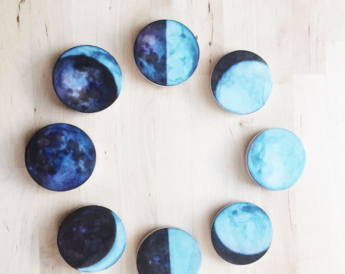 moon magnets, editors' pick, 8 lunar Phases