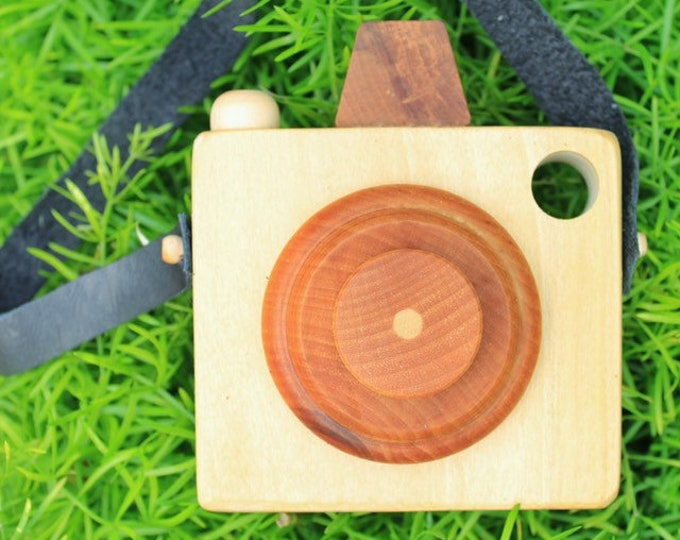 camera, wooden toy