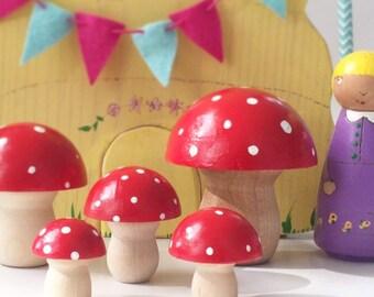 86e1cbd2b375 Whimsical mushrooms   Etsy