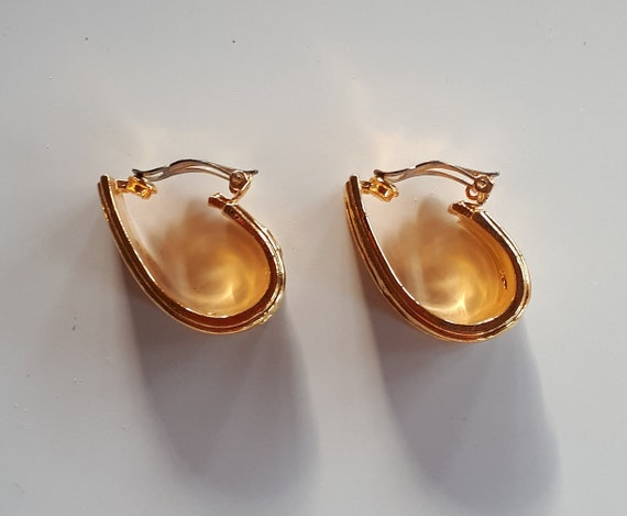 Vintage Designer Couture gold metal panthers on b… - image 9