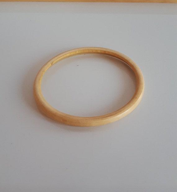 Carved bone upper arm band bracelet, Vintage hand