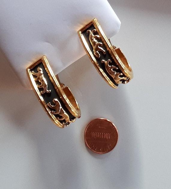 Vintage Designer Couture gold metal panthers on b… - image 8