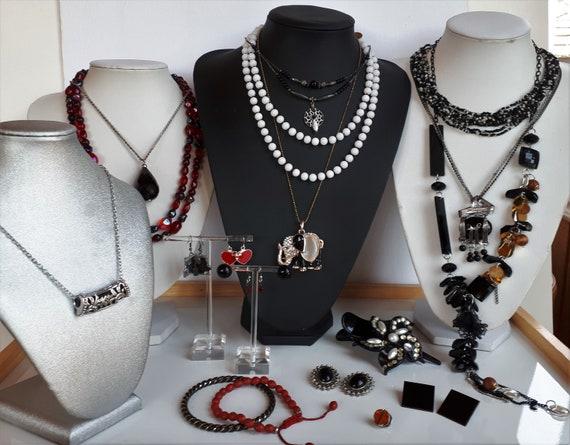 Destash 19 pcs red black white Bohemian jewelry lo
