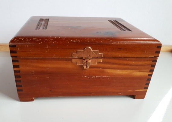 Hand Carved wooden Box Old wooden Jewelry Chest Bulgaria from /'70 Wood Carving Trinket Jewelry Box Vintage Jewelry Chest