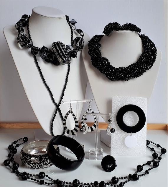Destash black statement jewelry lot Vintage to Now