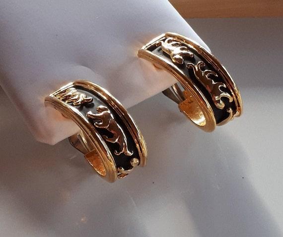 Vintage Designer Couture gold metal panthers on b… - image 4