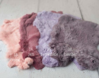 Natural Dyed Fur for Newborn Posing Photography Prop, Newborn Fur Prop, Newborn Basket Filler Prop, Posing Fur Prop, Newborn Photo Prop