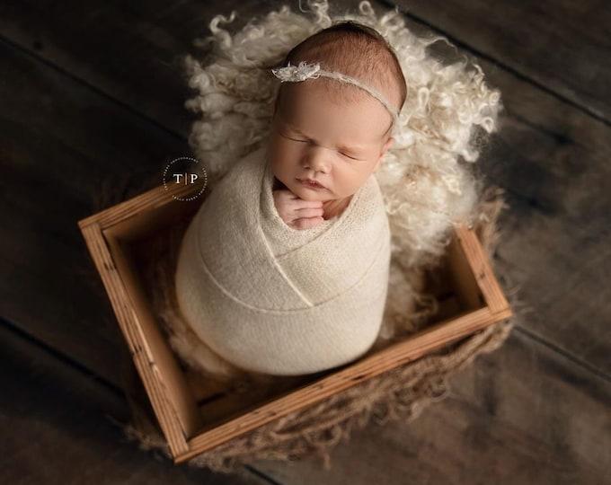 Cream Stretch Sweater Wrap Photography Photo Prop, Cream Stretch Sweater Wrap, Ivory Newborn Wrap, Newborn Wrap, Newborn Photo Prop