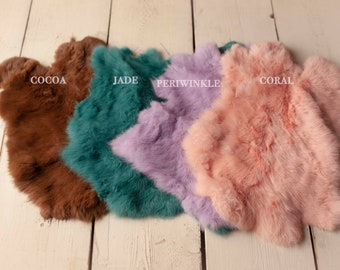 Discounted Natural Dyed Fur for Newborn Posing Photography Prop, Newborn Fur Prop, Newborn Basket Filler Prop, Posing Fur Prop, Newborn
