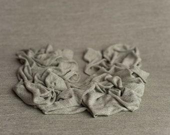 PAYTON- Variegated Medium Gray Stretch Newborn Photography Beanbag Cover Fabric Photo Prop, Newborn Beanbag Fabric, Gray Variegated Fabric