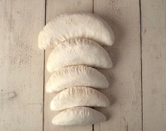 Newborn Contoured Filled Posing Bean Bag Pod Pillows 5PCS/ Baby Posing Contour Pillow Beans