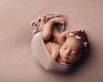 Pink Velvet Tieback/ Tieback/ Newborn Tieback/ Newborn Headband/ Newborn Photo Prop/ Tieback Headband/ Toddler Tieback/ Pink Tieback/ Newbor
