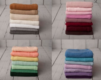 PICK YOUR BUNDLE - Newborn Photography Softest Soft Sweater Knit Wrap Photo Prop Bundle
