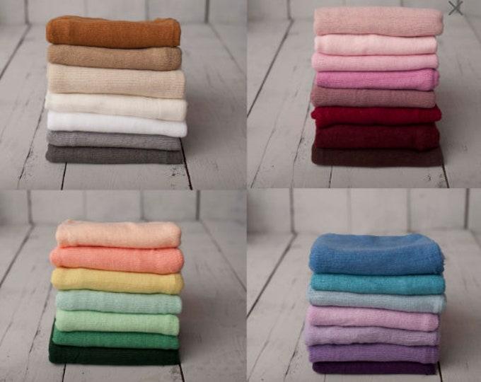 PICK YOUR BUNDLE - Newborn Photography Softest Soft Sweater Knit Wrap Photo Prop Bundle