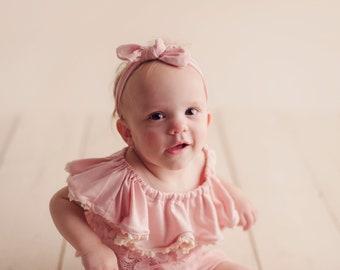 Sitter Headband/ Girls Headband/ Baby Headband/ Bow Headband/ Bow Head wrap/ Baby Girl Headband/ Knotted Girl Headband/ Knotted Headband