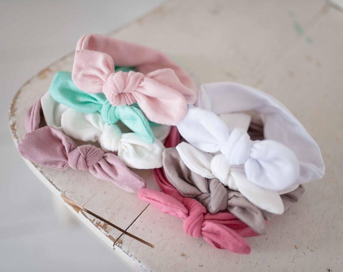 Newborn Headband/ Girls Headband/ Baby Headband/ Bow Headband/ Bow Head wrap/ Baby Girl Headband/ Knotted Newborn Headband/ Knotted Headband