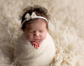 Stretchy Soft Knit Newborn Wrap Photo Prop/ Newborn Photography Prop/ Newborn Knit Wrap/ Knit Stretch Wrap/ Mohair Knit Wrap
