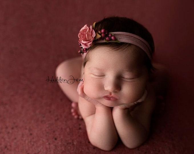 Raspberry Deep Pink Speckled Neutral Texture Newborn Posing Fabric, Newborn Backdrop, Fabric backdrop, Posing Fabric, Pink Newborn Bean Bag