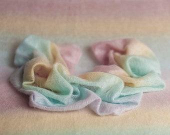 Pastel Rainbow Baby Stretch Knit Posing Fabric And Wrap Layer, Rainbow Wrap, Newborn Baby Rainbow Wrap, Photo Rainbow Wrap, Rainbow Baby