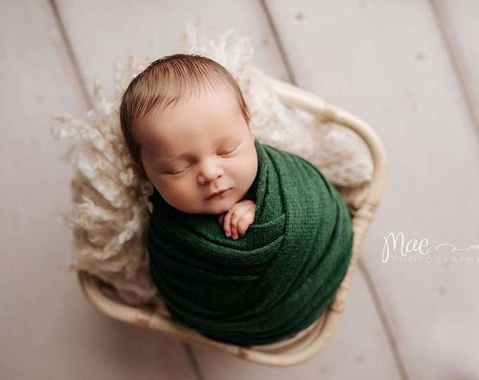 Emerald Green Stretch Sweater Wrap Photography Photo Prop, Emerald Green Sweater Wrap, Newborn Wrap, Newborn Wrap, Newborn Photo Prop