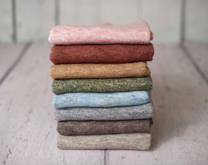 Marbled Texture Newborn Sweater Stretch Knit Wrap, Newborn Texture Wrap, Stretch Knit Wrap , Newborn Photo Props, Newborn Wrap, Newborn