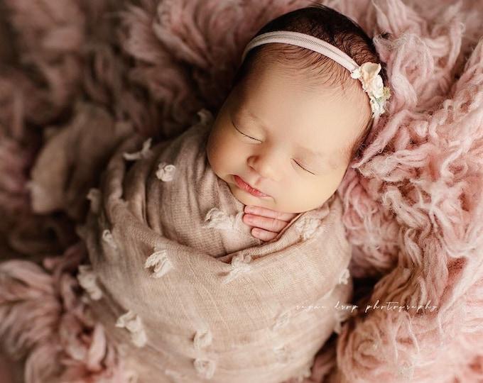Flower Child Pompon Layering Newborn Photography Photo Prop Wrap, Newborn Layer, Newborn Wrap, Photography Prop, PomPom Layer, Newborn