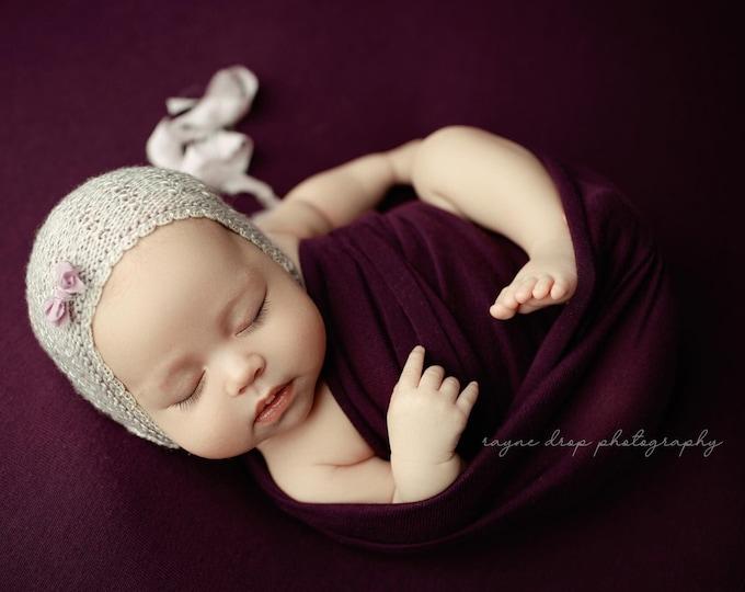 Purple Eggplant Newborn Beanbag Fabric, Purple Newborn Photo Prop, Newborn Photography Beanbag Cover, Beanbag Fabric, Newborn Photo Prop