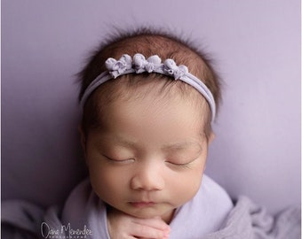 Jersey Bow Newborn Baby Tieback/ Jersey Tieback/ Baby Tieback/ Organic Tieback/ Newborn Photo Prop/ Simple Tieback/ Newborn Photography
