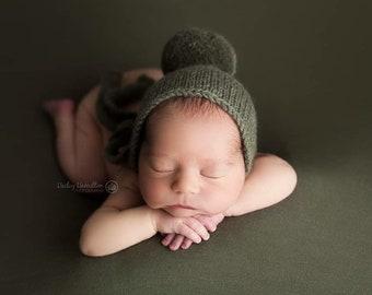 Olive Green Backdrop, Newborn Photo Prop, Olive Posing Fabric, Newborn Photography Backdrop, Newborn Fabric Backdrop, Green Backdrop