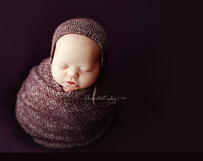 Purple Eggplant Newborn Beanbag Fabric, Purple Newborn Photo Prop, Newborn Photography Beanbag Cover, Beanbag Fabric, Newborn Photo Prop
