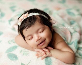 Fuzzy Soft Floral Beanbag Posing Fabrics, Custom Backdrop, Soft Halo Fuzzy Backdrop, Organic Floral Backdrop