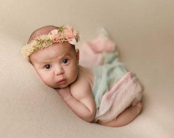 Pastel Rainbow Baby Stretch Knit Wrap Layer, Pastel Rainbow Wrap, Newborn Baby Rainbow Wrap, Photography Rainbow Wrap, Rainbow Baby, Rainbow