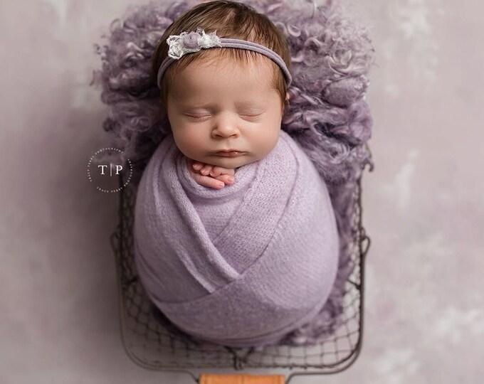 Lilac Soft Purple Stretch Sweater Wrap Photography Photo Prop, Lilac Soft Purple Sweater Wrap, Newborn Wrap, Newborn Wrap, Newborn Prop
