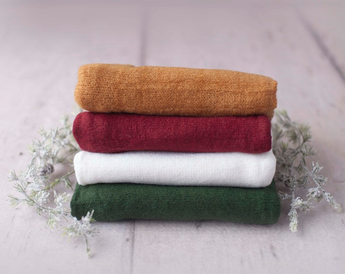 Christmas Stretch Sweater Wrap Photography Photo Prop, Red Green White Stretch Sweater Wrap, Newborn Wrap, Newborn Wrap, Newborn Photo Prop