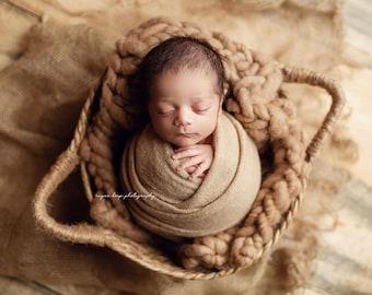 Tan Light Soft Brown Stretch Sweater Wrap Photography Photo Prop, Tan Stretch Sweater Wrap, Newborn Wrap, Newborn Wrap, Newborn Photo Prop