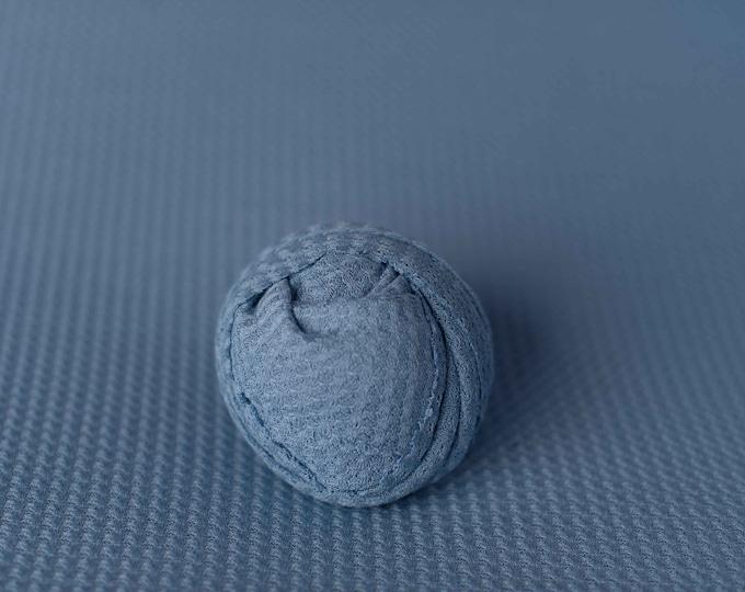 Blue Newborn Waffle Texture Grid Wrap Newborn Photo Prop/ Newborn Fringe Knit Wrap/ Knit Stretch Wrap/ Grid Wrap/ Newborn Swaddle