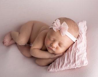 Bow Tieback/ Ivory Newborn Tieback/ Bow Tieback/ Tieback/ Headband/ Newborn Photography Prop/ Newborn Bow/ Tieback Prop/ Big Bow Tieback