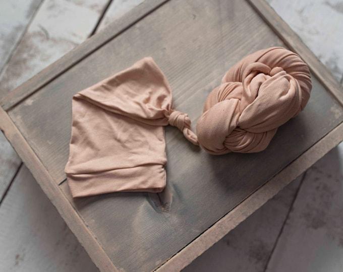 Newborn Wrap Hat Set/ Newborn Wraps/ Stretch Jersey Knit Wrap/ Newborn Prop/ Newborn Wrap Set/ Jersey Wrap/ Stretch Wrap/ Photography Prop