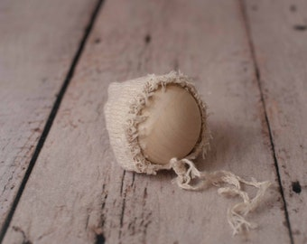 Beige Stretch Knit Mohair Hat/ Newborn Knit Hat/ Knit Bonnet/ Newborn Photography Prop/ Newborn Knit Props/ Props/ Newborn Bonnet/ Newborn