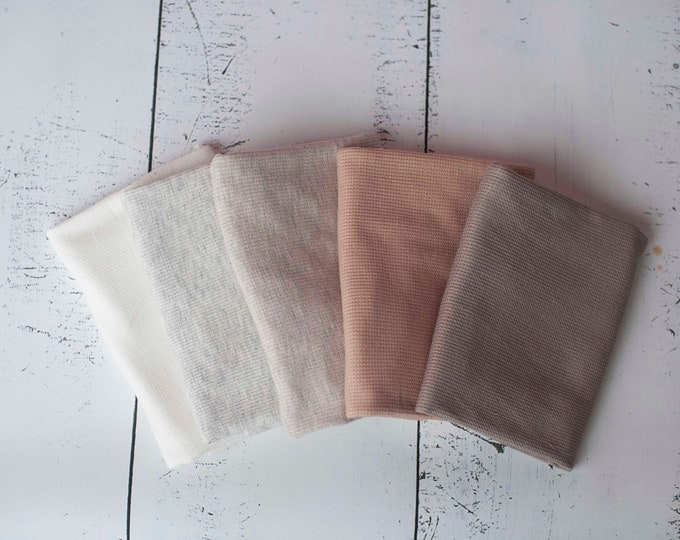 Neutral Color Organic Texture Stretch Knit Fringe Wrap/ Neutral Stretch Wrap/ Organic Texture Wrap/ Newborn Baby Wrap